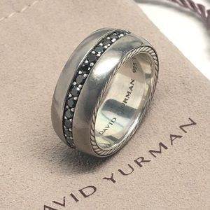 David Yurman Streamline Black Diamond Band Ring